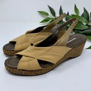 Donald J Pliner Slingback Wedge Basket Weave 7.5